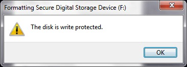 How To Fix The Disk Is Write Protected - Ticswipe.com