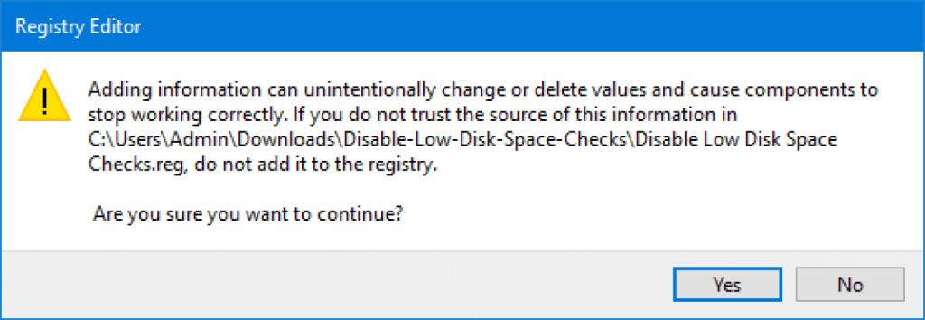 How To Disable Low Disk Space Warning Windows 10 - Ticswipe.com