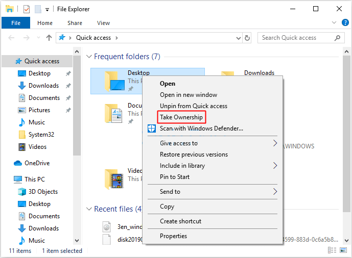How To Add The Take Ownership Option To Right-click Menu On Windows 10 - Ticswipe.com