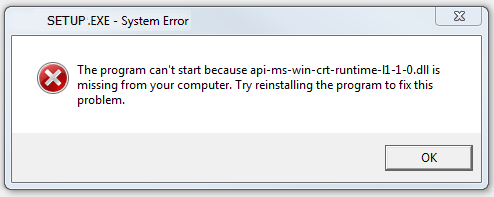 """How To Fix """"The program can't start because api-ms-win-crt-runtime-l1-1-0.dll is missing from your computer"""" - Ticswipe.com"""