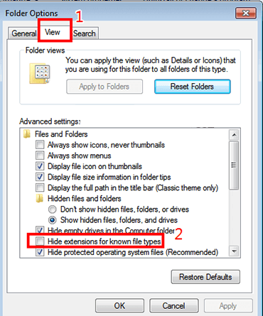 How To Show File Extensions In Windows 10/8/7 - Ticswipe.com
