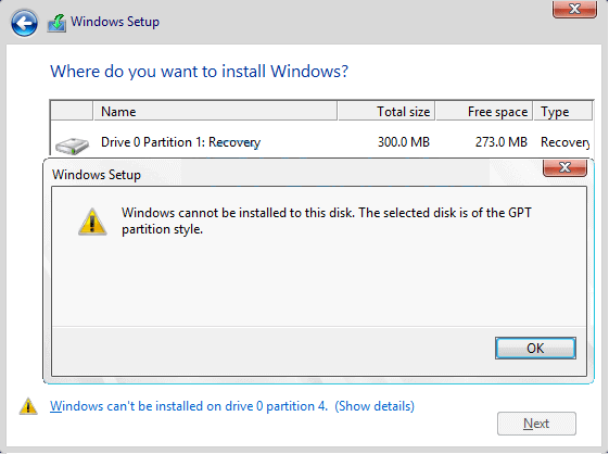 How To Fix Windows Cannot Be Installed To This Disk - Ticswipe.com