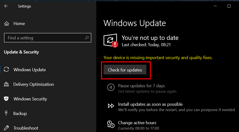 How To Fix Your PC Ran Into A Problem And Needs To Restart Windows 10 - Ticswipe.com